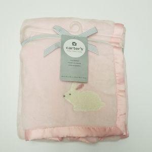 Carters Pink Bunny Rabbit Blanket